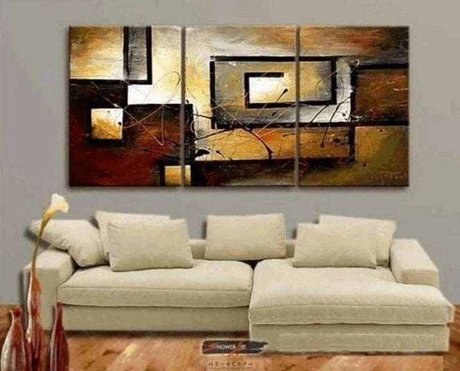 Acrylic Abstract Painting, Canvas Painting for Bedroom, Living Room Wall Art Ideas, Modern Abstract Paintings, 3 Piece Wall Paintings