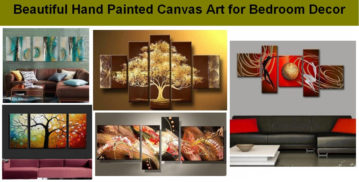 Living Room Wall Art Paintings, Modern Canvas Painting for Bedroom, Hand Painted Abstract Artwork