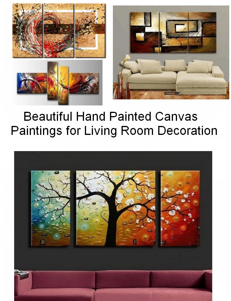 Acrylic Painting on Canvas, Modern Paintings for Living Room, Bedroom Abstract Wall Art Paintings