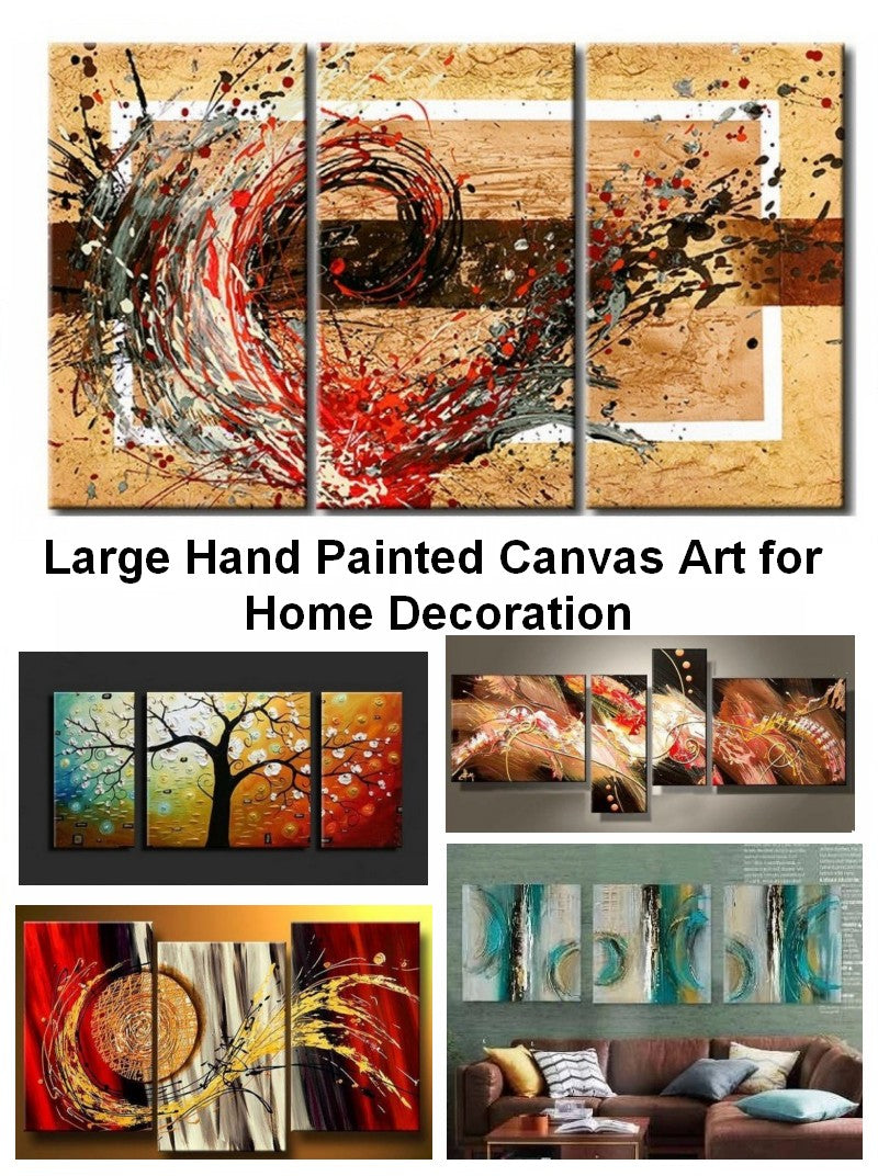 Hand painted canvas paintings, acrylic abstract painting on canvas, abstract paintings for living room, bedroom wall art paintings
