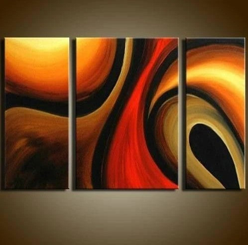 Abstract Painting for Bedroom, Bedroom Wall Art Paintings, Living Room Modern Painting Ideas, 3 Piece Wall Art