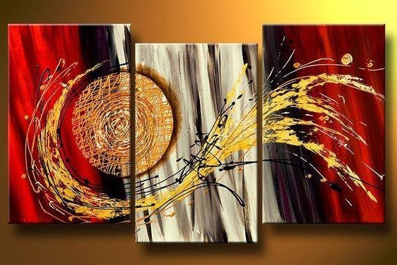 3 Piece Wall Art Paintings, Abstract Painting for Sale, Canvas Painting for Living Room, Wall Art Set, Large Oil Painting