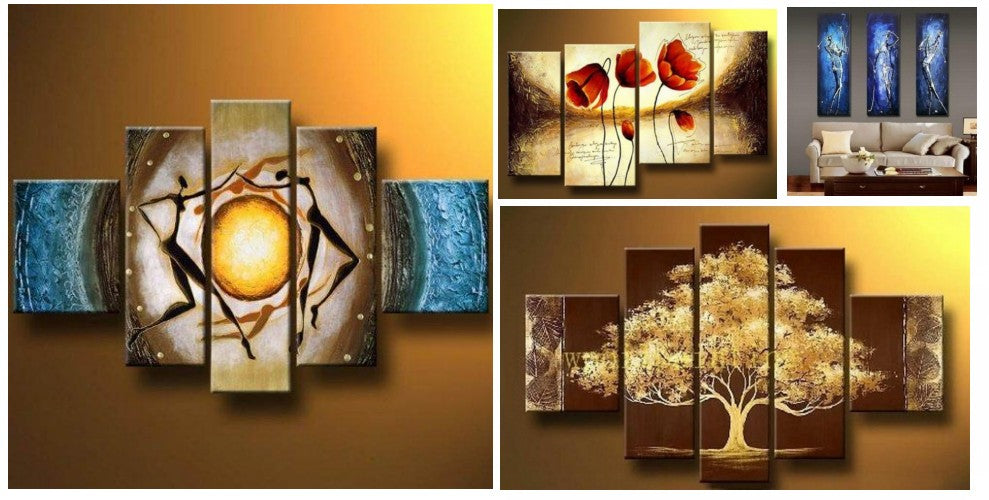 Modern Paintings for Bedroom, Simple Modern Art, Multiple Canvas Art, Acrylic Painting Abstract, Hand Painted Canvas Art, Large Paintings for Bedroom, Multiple Canvas Paintings