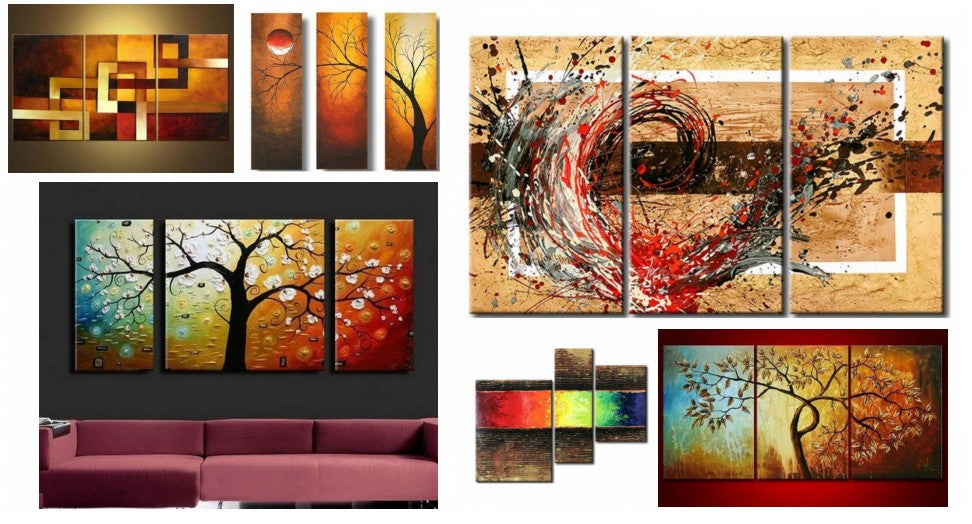 Acrylic Paintings for Dining Room, Multiple Canvas Paintings, Simple Modern Art, Canvas Painting for Dining Room, Modern Paintings, Modern Contemporary Painting