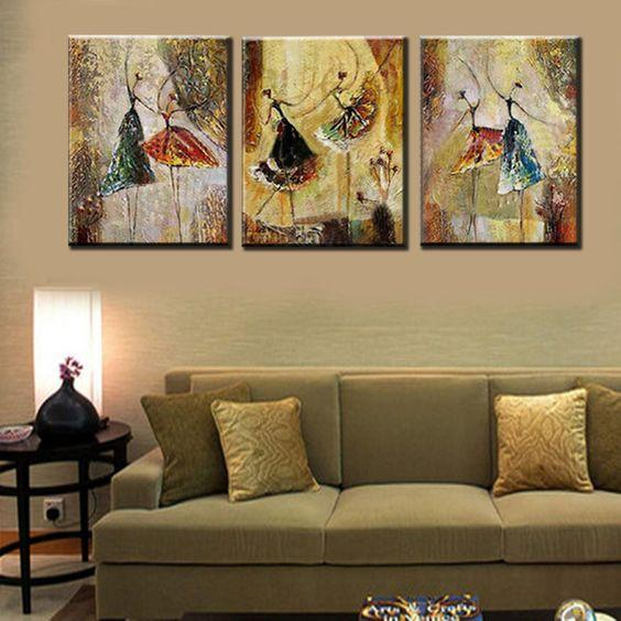 Abstract Acrylic Art, Ballet Dancers Painting, Simple Modern Art, Modern Canvas Painting for Bedroom, Abstract Painting for Sale