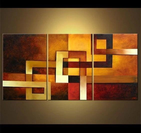 Abstract Canvas Painting, Abstract Acrylic Paintings, 3 Piece Wall Art Paintings, Abstract Painting for Living Room, Simple Modern Art