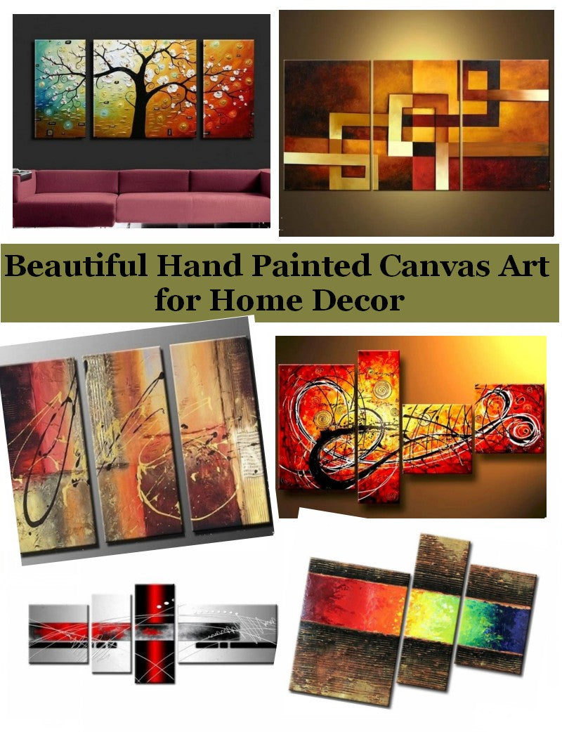 3 Piece Canvas Painting, Large Modern Wall Art Paintings for Living Room, Bedroom Wall Art Ideas