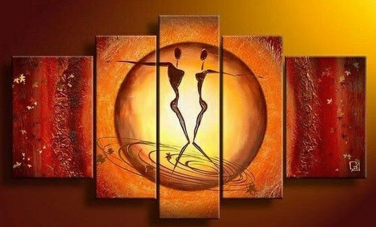 Large Acrylic Art Painting, Dancing Figure Painting, Bedroom Canvas Painting, Buy Art Online