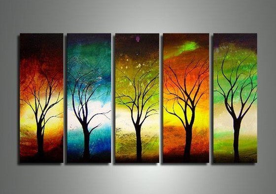 Large Acrylic Painting, Tree of Life Painting, Living Room Wall Art Paintings, Modern Contemporary Art, Tree Paintings