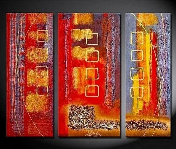 Bedroom Wall Art, Red Abstract Painting, Large Painting, Modern Art, Art on Canvas, Painting for Sale