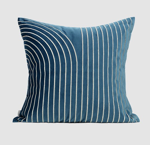 Blue Square Pillow, Large Throw Pillows for Living Room, Modern Sofa Pillow, Decorative Throw Pillows for Couch