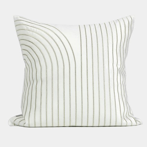Silvia White Square Pillow, Large Throw Pillows for Living Room, Simple Modern Sofa Pillow, Decorative Throw Pillows for Couch