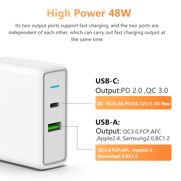 TOPESEL USB wall charger