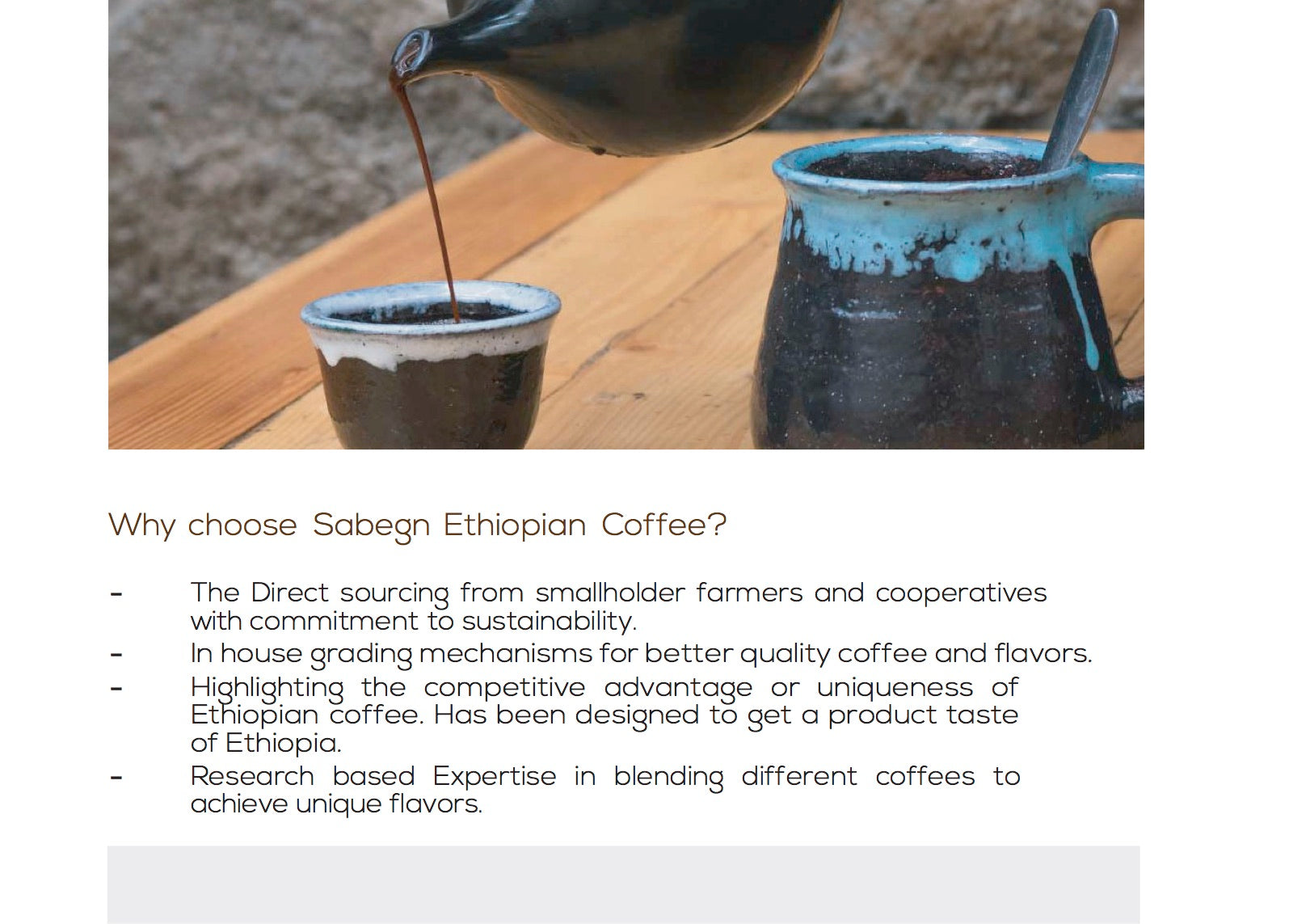 Ethiopian coffee culture and flavour